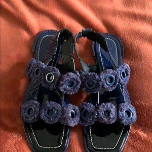 Tory Burch Never Worn Blue Sandals Size 10.5